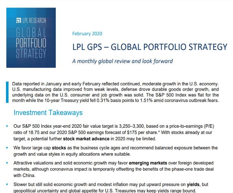 Global Portfolio Strategy | February 11, 2020
